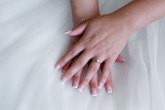 Bride s hands Royalty Free Stock Photography