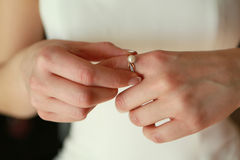 The bride's hands Royalty Free Stock Image