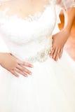 Bride's hands wedding Stock Image