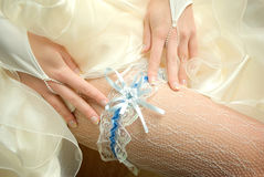 Bride'S leg Stock Photo