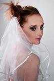 Bride's portrait. A portrait of the bride Royalty Free Stock Photo