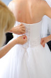 Bride's Preparation Royalty Free Stock Photo