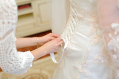 Bride's Preparation Stock Photography