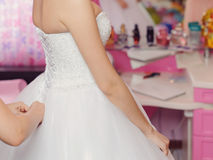Bride's Preparation Royalty Free Stock Photography