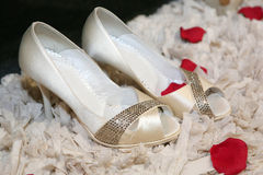 Bride's shoes Royalty Free Stock Photo