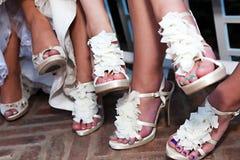 Bride's Shoes Stock Photos