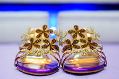 Bride's Shoes Royalty Free Stock Photos
