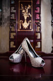 Bride's Shoes Stock Photography