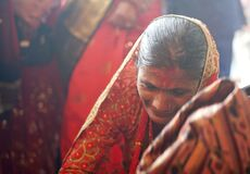 Indian and Nepali wedding, grieving woman