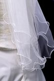 Bride's veil. White veil Royalty Free Stock Image