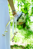 Bride's wedding bouquet Stock Image