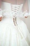 Bride's wedding dress. Bride dressed in wedding dress Stock Photography