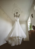 Bride's wedding dress Royalty Free Stock Image