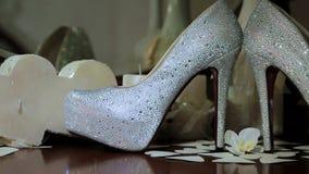 Bride's Wedding Shoes stock footage