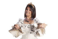 Bride saying YES to marriage Royalty Free Stock Photos