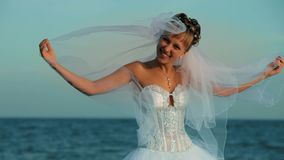 Bride On The Sea stock video
