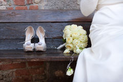 Bride shoes Royalty Free Stock Photos