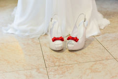 Bride shoes Stock Images