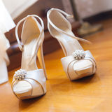 Bride shoes Royalty Free Stock Photo