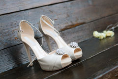 Bride shoes Stock Image