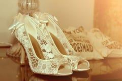 Bride shoes Stock Photos