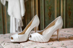 Bride shoes Stock Photography