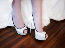 Bride shoes Royalty Free Stock Photography