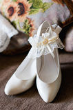 Bride Shoes Royalty Free Stock Images