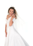 Bride Showing Her Large 3 Carat Diamong Ring Royalty Free Stock Photo