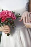 Bride Showing Wedding Ring Stock Photo