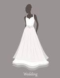 Bride sihlouette. Vector Stock Images
