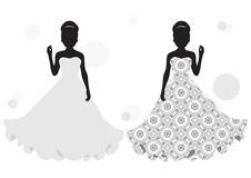 Bride silhouette Royalty Free Stock Photography