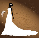 Bride silhouette Royalty Free Stock Image