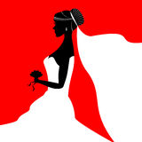 Bride Silhouette Wedding Royalty Free Stock Photo