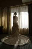 Bride Silhoutte. A waiting bride in silhoutte Stock Images