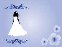 Bride silhuette design Stock Images