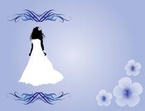 Bride silhuette design Stock Images