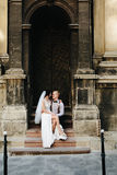 Bride sitting on lap of the bride Royalty Free Stock Photography