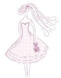 Bride sketch Stock Photos