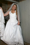 Bride smiling for the camera royalty free stock photo