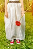 Bride in sneakers Royalty Free Stock Image