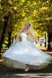 Bride spinning Stock Images