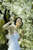 Bride in the spring garden Royalty Free Stock Photo