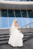 Bride on the staircase Stock Photos