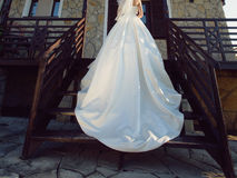 Bride on Stairs Royalty Free Stock Photography