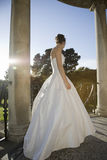 Bride Standing On Balcony Royalty Free Stock Images