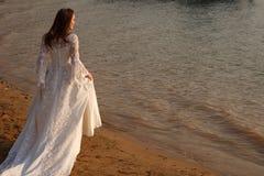 Bride on the beach Stock Photo