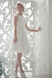 Bride standing on the window Stock Photography