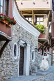 Bride on the street in Plovdiv,Bulgaria Royalty Free Stock Image