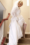 Bride Striptease #3 Royalty Free Stock Image